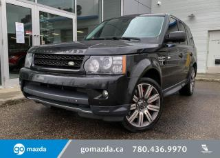 Used 2013 Land Rover Range Rover Sport SPORT - SUPER CHARGED, ADJUSTIBLE SUSPENSION, MOONROOF, NAV, PUSH BUTTON, HEATED SEATS for sale in Edmonton, AB