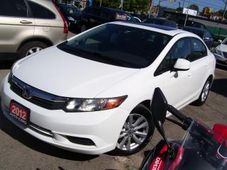 Used 2012 Honda Civic EX,BLUETOOTH,A/C,SUNROOF,KEY LESS,CERTIFIED,ALLOYS for sale in Kitchener, ON