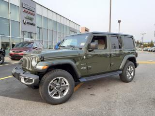 New 2021 Jeep Wrangler Unlimited BODY COLOR TOP TAN LEATHER NAVI COLD WEATHER GROUP for sale in Pickering, ON