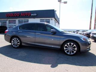Used 2013 Honda Accord Sport Sedan 6 SPD MANUAL CAMERA BLUETOOTH CERTIFIED for sale in Milton, ON