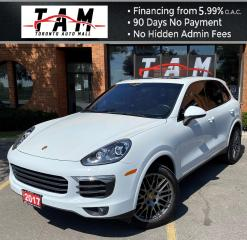 Used 2017 Porsche Cayenne Base Platinum Edition NAVI Panoramic Roof Lane Change Assist One Owner Clean Carfax for sale in North York, ON