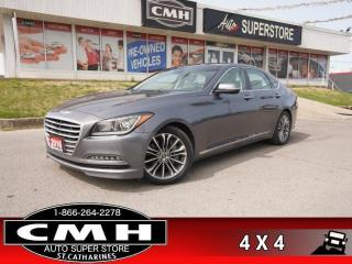 Used 2016 Hyundai Genesis Sedan 3.8 Luxury  AWD NAV CAM PANO CLD-SEATS for sale in St. Catharines, ON