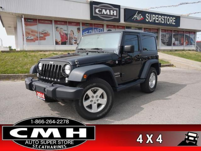 2014 Jeep Wrangler Sport  4WD AC 2-TOPS MANUAL ALLOYS