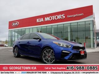 Used 2020 Kia Forte GT| TURBO| LTHR | NAVI | B/U CAM | HTD SEATS| 22K for sale in Georgetown, ON