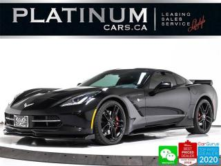 Used 2014 Chevrolet Corvette STINGRAY Z51 3LT, 455HP, AUTO, NAV, CAM, HUD, VENT for sale in Toronto, ON