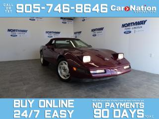 Used 1993 Chevrolet Corvette 40TH ANNIVERSARY | CONVERTIBLE |  WOW ONLY 16 KM! for sale in Brantford, ON
