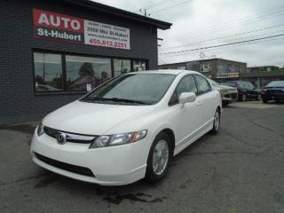 Used 2008 Honda Civic HYBRIDE**BAS KILO** for sale in St-Hubert, QC