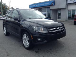 Used 2016 Volkswagen Tiguan Comfortline LEATHER, SUNROOF, HEATED SEATS, ALLOYS!! for sale in Kingston, ON