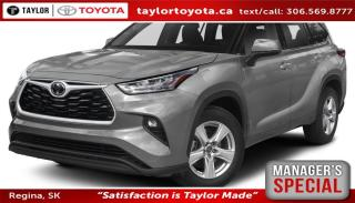 New 2020 Toyota Highlander LE Save $2500 for sale in Regina, SK