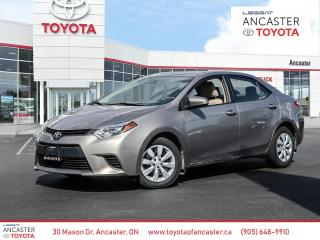 Used 2014 Toyota Corolla LE for sale in Ancaster, ON