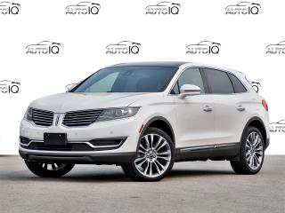 Used 2017 Lincoln MKX Reserve PRE-OWNED, CERTIFIED, extended 6year/160000kms warranty included, finance from 2.9% OAC for sale in Hamilton, ON