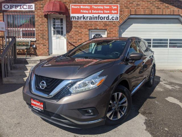 2016 Nissan Murano SV AWD Pano Roof Touch Screen Back Up Cam Nav Pwr