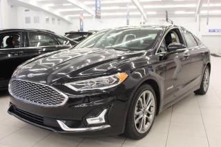 Used 2019 Ford Fusion Hybrid 3 MONTH DEFERRAL! *oac | HYBRID | Titanium | HeatedCooled Leather for sale in Edmonton, AB