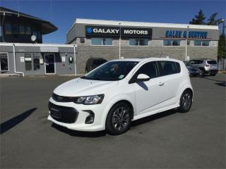 Used 2018 Chevrolet Sonic LT - Heated Seats Moonroof Bluetooth for sale in Nanaimo, BC