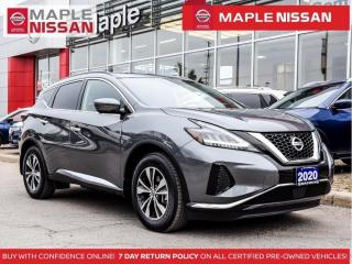 Used 2020 Nissan Murano SV AWD Navi Blind Spot Backup Cam Apple Carplay for sale in Maple, ON