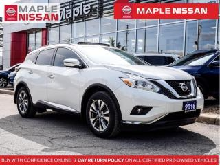 Used 2016 Nissan Murano SV AWD Remote Start Bluetooth Navi Backup Camera for sale in Maple, ON