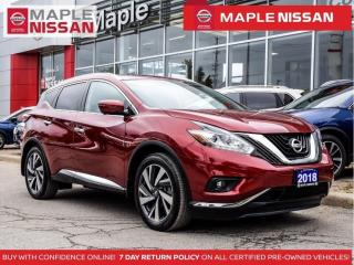 Used 2018 Nissan Murano Platinum Navi Apple Carplay Pano Moon Blind Spot for sale in Maple, ON