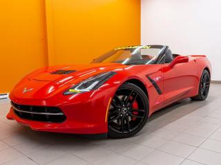 Used 2014 Chevrolet Corvette Z51 V8 6.2L PERFORMANCE EXHAUST CUIR NAV *BAS KM* for sale in St-Jérôme, QC