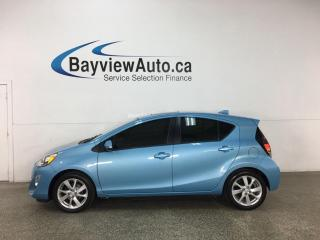 Used 2016 Toyota Prius c Technology - 1/2 LEATHER! SUNROOF! NAV! 46,000KMS! for sale in Belleville, ON