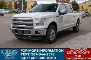 Used 2016 Ford F-150 Lariat 502A/LARIAT/ROOF/NAV/LED LIGHTS/5.0L V8/PWR BOARDS for sale in Okotoks, AB