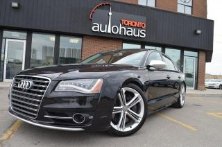 Used 2013 Audi S8 NAVI/BSM/2XDVD/LEATHER/LOADED/NO CLAIMS for sale in Concord, ON