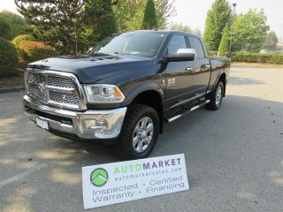 Used 2014 RAM 3500 Laramie Crew Cab SWB 4WD 6.7TD INSP BCAA MBSHP WARRANTY for sale in Surrey, BC
