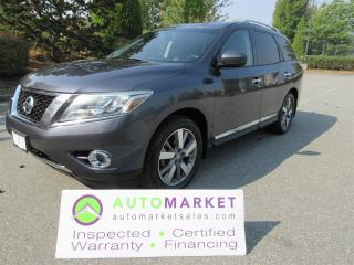 Used 2013 Nissan Pathfinder PLATINUM AWD, INSP, BCAA MBSHP, WARRANTY, FINANCING for sale in Surrey, BC