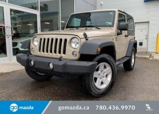Used 2018 Jeep Wrangler JK Sport for sale in Edmonton, AB