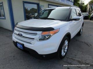 Used 2011 Ford Explorer FOUR-WHEEL DRIVE LIMITED EDITION 7 PASSENGER 3.5L - V6.. BENCH & 3RD ROW.. NAVIGATION.. LEATHER.. HEATED/AC SEATS.. DUAL SUNROOF.. POWER MIRRORS.. for sale in Bradford, ON
