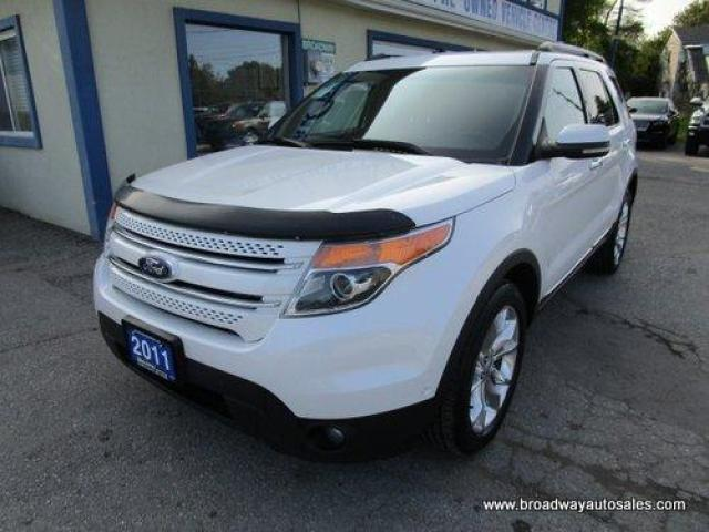 2011 Ford Explorer FOUR-WHEEL DRIVE LIMITED EDITION 7 PASSENGER 3.5L - V6.. BENCH & 3RD ROW.. NAVIGATION.. LEATHER.. HEATED/AC SEATS.. DUAL SUNROOF.. POWER MIRRORS..