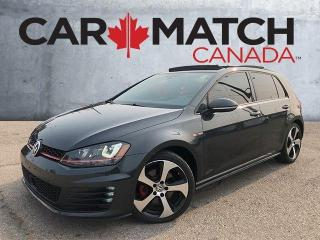 Used 2015 Volkswagen Golf GTI SE AUTOBAHN / NAV / ROOF / LEATHER for sale in Cambridge, ON