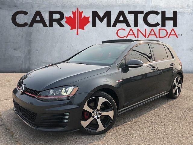 2015 Volkswagen GTI AUTOBAHN / NAV / ROOF / LEATHER