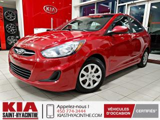 Used 2014 Hyundai Accent GL ** SIÈGES CHAUFFANTS / BLUETOOTH for sale in St-Hyacinthe, QC