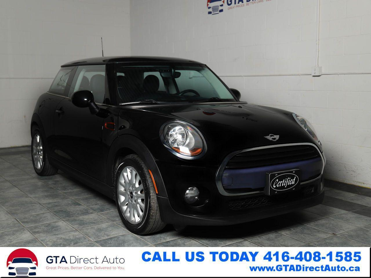 2016 MINI Cooper Panoroof 6-Speed Leather Bluetooth KeyGo Certified