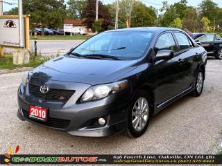Used 2010 Toyota Corolla S|NO ACCIDENT|SUNROOF|BLUETOOTH|WARRANTY|CERTIFIED for sale in Oakville, ON
