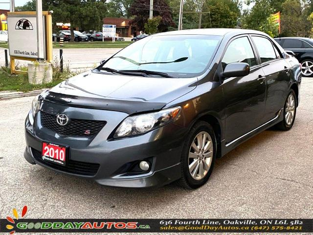 2010 Toyota Corolla S|NO ACCIDENT|SINGLE OWNER|WARRANTY|CERTIFIED