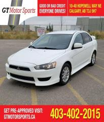 Used 2013 Mitsubishi Lancer SE  IAWC| $0 DOWN - EVERYONE APPROVED! for sale in Calgary, AB