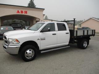 Used 2017 RAM 3500 HD DUALLY FLAT DECK CREW CAB 4X4 CUMMINS for sale in Grand Forks, BC