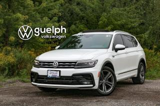 Used 2018 Volkswagen Tiguan Highline R-LINE | Black & Saffrano Orange Leatherette Interior for sale in Guelph, ON