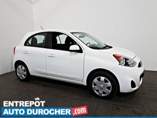 Used 2017 Nissan Micra SV Automatique - AIR CLIMATISÉ - Groupe Électrique for sale in Laval, QC
