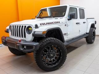 Used 2020 Jeep Gladiator RUBICON SIÈGES / VOLANT CHAUFF NAV CUIR *BAS KM* for sale in Mirabel, QC