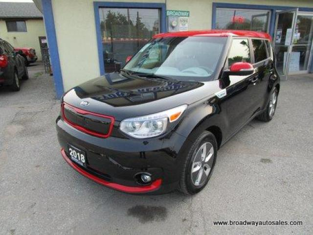 2018 Kia Soul EV LOADED ECO-ELECTRIC VERSION 5 PASSENGER ACTIVE-ECO-PACKAGE.. LEATHER.. HEATED/AC SEATS.. NAVIGATION.. BACK-UP CAMERA.. BLUETOOTH SYSTEM..