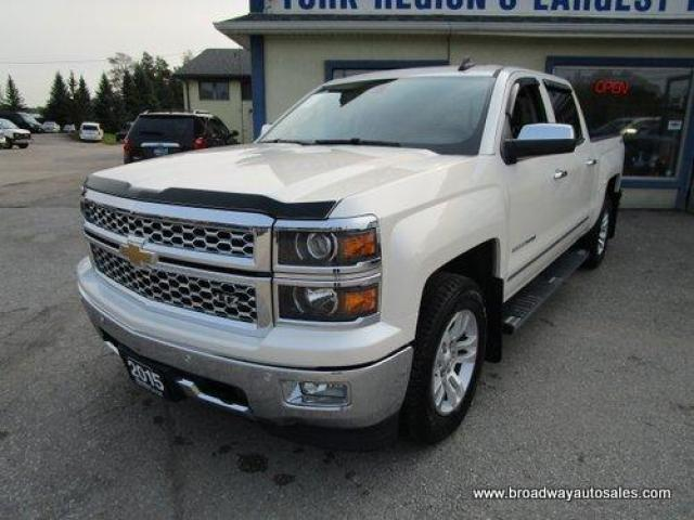2015 Chevrolet Silverado 1500 LOADED LTZ EDITION 6 PASSENGER 5.3L - VORTEC.. 4X4.. CREW-CAB.. SHORTY.. LEATHER.. HEATED SEATS.. POWER PEDALS & MIRRORS.. BACK-UP CAMERA.. BOSE..