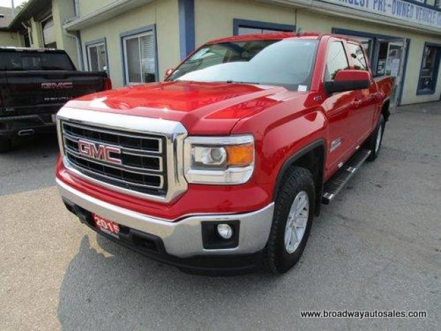 2015 GMC Sierra 1500 WORK READY KODIAK-SLE-MODEL 6 PASSENGER 5.3L - VORTEC.. 4X4.. CREW-CAB.. SHORTY.. BACK-UP CAMERA.. BLUETOOTH SYSTEM.. TRAILER BRAKE..