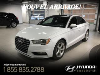 Used 2015 Audi A3 KOMFORT+ GARANTIE + TOIT + CUIR + A/C + for sale in Drummondville, QC