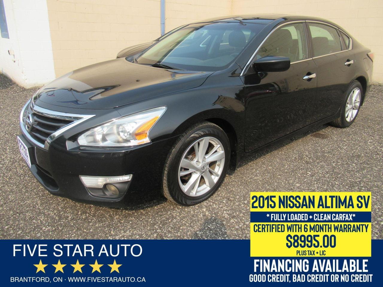 2015 Nissan Altima 2.5 SV *Clean Carfax* Certified + 6 Month Warranty