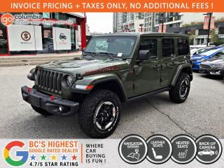 New 2021 Jeep Wrangler RUBICON UNLIMITED 4x4 for sale in Richmond, BC