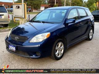 Used 2006 Toyota Matrix XR|LOW KM|MANUAL|WARRANTY|CERTIFIED for sale in Oakville, ON