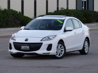 Used 2012 Mazda MAZDA3 SKYACTIV,SUNROOF,ALLOYS,BLUETOOTH,LOADED,CERTIFIED for sale in Mississauga, ON