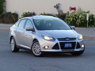 Used 2013 Ford Focus LEATHER,TITANIUM,NAVIGATION,REAR-CAMERA,CERTIFED for sale in Mississauga, ON